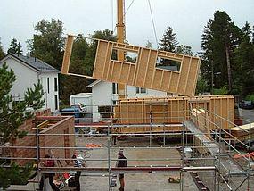 Bau Zimmerer Wand: Mehrfamilienhaus G'zell