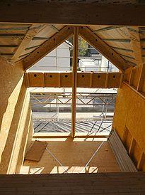 Bau Blick von der Galerie: Mehrfamilienhaus G'zell