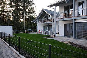Ansicht Süd: Mehrfamilienhaus Gröbenzell