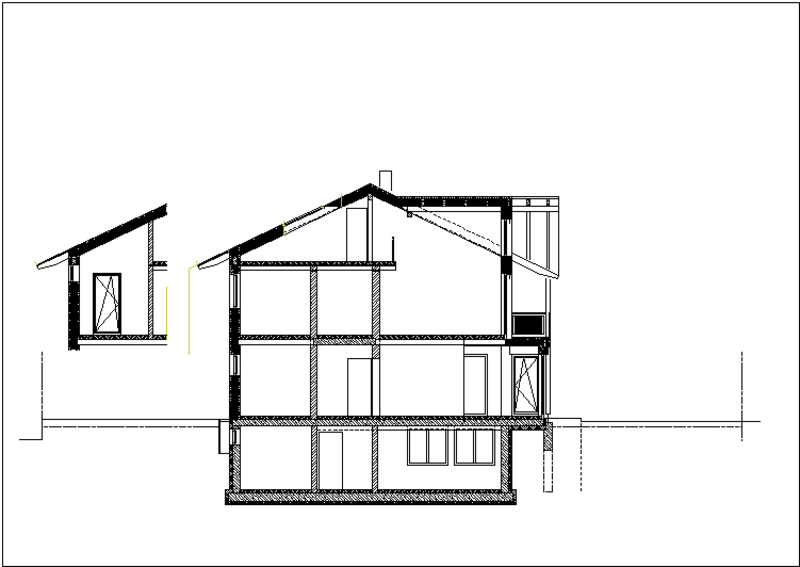 Plan Schnitt Haus 1
