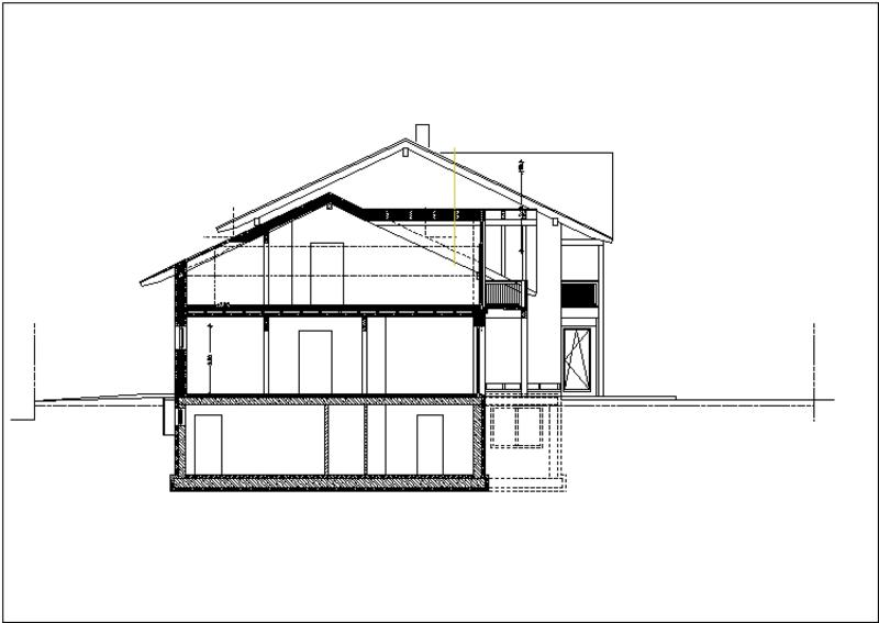 Plan Schnitt Haus 2
